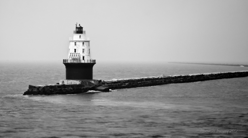 The Harbor of Refuge light